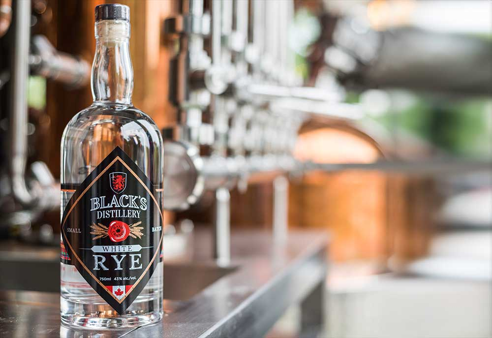 Black's Distillery White Rye
