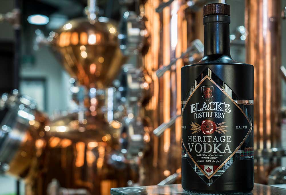 Black's Distillery Heritage Vodka