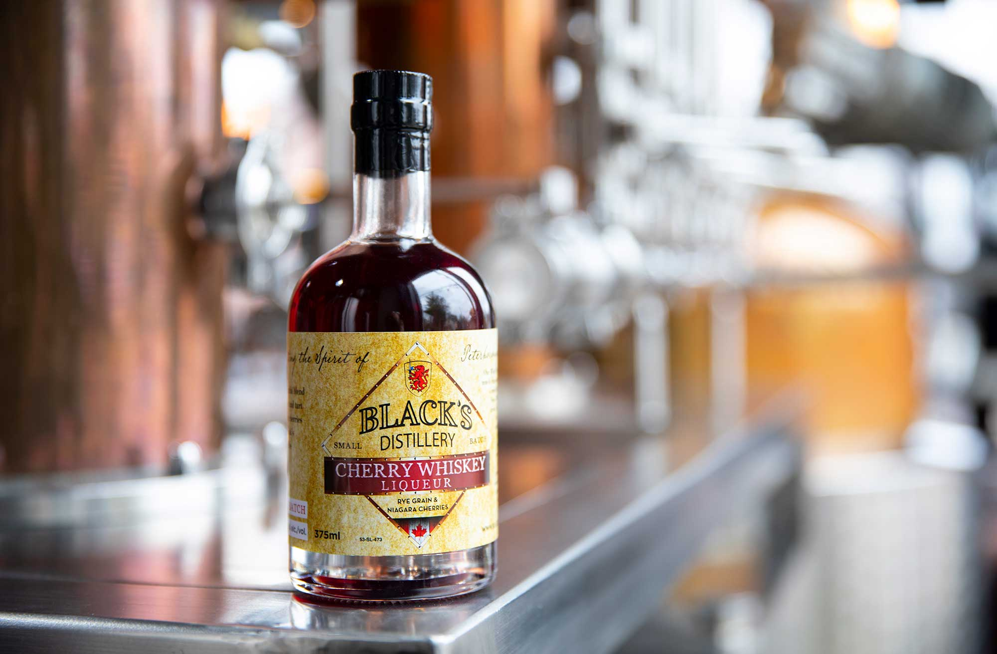 Black's Distillery Cherry Whiskey Liqueur